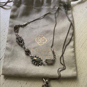 Kendra Scott June necklace in antique silver